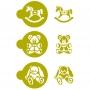 Комплект шаблони - Бебешки играчки - 3 бр