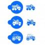 Комплект шаблони - Камиони - 3 бр