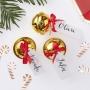 Парти поставка за картички - Red & Gold - Коледни звънчета