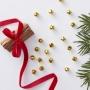 Парти конфети за маса - Red & Gold - Коледни звънчета