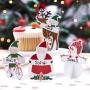 Парти тейбъл картички - Santa & Friends - Дядо Коледа и приятели