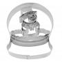 Метален резец - Снежен глобус със снежен човек - 8 см