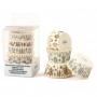 Хартиени форми за мъфини - Бяла Коледа - 75 бр
