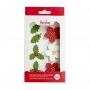 Захарни декорации - Коледна звезда и Бодлива зеленика - 7 бр