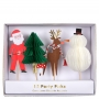 Декорации за мъфини и торти - MeriMeri - Дядо Коледа и Рудолф