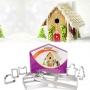Комплект метални резци - Коледна къщичка - 7 бр