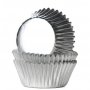 Хартиени форми за мини мъфини - Сребърно фолио - 36 бр