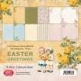 Комплект дизайнерски хартии - 6 x 6 - Великденски пожелания