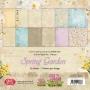 Комплект дизайнерски хартии - 6 x 6 - Пролетна градина