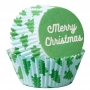 Хартиени форми за мъфини - Весела Коледа - 75 бр