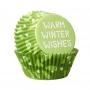 Хартиени форми за мини мъфини - Зимни пожелания - 100 бр