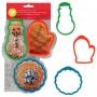 Комплект силиконови форми за палачинки - Коледа - 3 бр