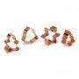 Комплект метални резци с медно покритие - Коледа - 4 бр