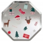 Парти чинии - MeriMeri - Коледни любимци - Големи