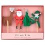 Декорации за мъфини и торти - MeriMeri - Коледни любимци
