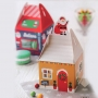Комплект кутии - Коледни къщички - 4 бр