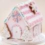 Коледна джинджифилова къщичка - Сладка и светла - Розова