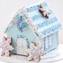 Коледна джинджифилова къщичка - Сладка и светла - Синя
