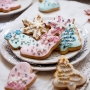 Домашни бисквитки - Пастелна Коледа - 6 бр