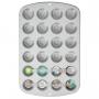 Форма за мини мъфини и кексчета с незалепващо покритие -  24 бр