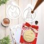 Комплект домашно приготвени Коледни картички