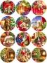 Принт декорация - Коледни любимци - 12 бр