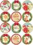 Принт декорация - Коледни желания - 12 бр