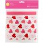 Комплект торбички с многоктарно запечатване - Св.Валентин - 20 б