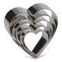 Комплект метални резци - Сърца - 5 бр