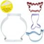 Метални цветни резци с комплект за декориране - Морски свят - 4