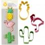 Комплект метални цветни резци - Тропически - 3 бр