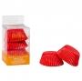Хартиени форми за мъфини - Червени - 75 бр