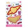 Комплект резци - Влюбени сърца - 2 бр