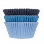 Хартиени форми за мъфини - Синьо асорти - 75 бр