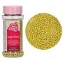 Захарни перли - Металик - Златни - 80 гр