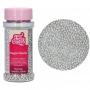 Захарни перли - Металик, Сребърни - 80 гр