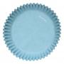 Хартиени форми за мъфини - Светло сини - 48 бр