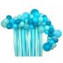 Арка от балони и завеса - MeriMeri - Сини балони - 52 балона