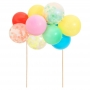Комплект топери за торта - MeriMeri - Балони дъга