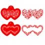 Комплект шаблони - Двойни сърца - 2 бр