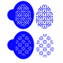 Комплект шаблони за бисквитки - Фаберже класик - 2 бр