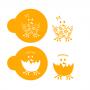 Комплект шаблони за бисквитки - Великденски пиленца - 2 бр