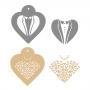 Комплект шаблони - Булка и младоженец - 2 бр