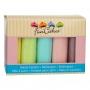 FunCakes - Фондани Мултипак - Пастелни цветове - 5 х 100 гр