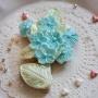 Домашна бисквитка - Букет - Перлено синьо