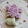 Домашна бисквитка - Букет - Перлено лилаво