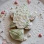 Домашна бисквитка - Букет - Перлено бяло