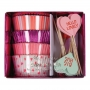 MeriMeri - Комплект за мъфини - Пастелни сърца