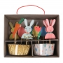 MeriMeri - Комплект за мъфини - Великденско зайче