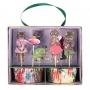 MeriMeri - Комплект за мъфини - Цветя и котета на Nathalie Lete